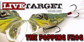 Live Target Popping Frog and Crappie Crank Feature