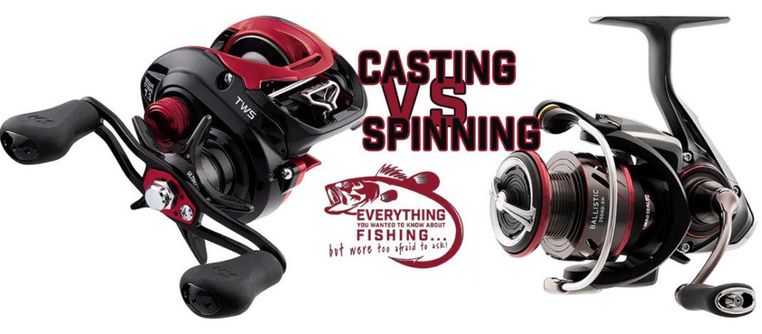 Spinning vs Casting Gear